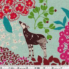 Africas  Animals & Bugs   Fabric Design ARt - Pale Blue