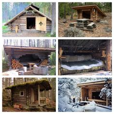 "selenesurvivalgoddess: ""Traditional Finnish 'laavu' or wilderness shelter. A…"