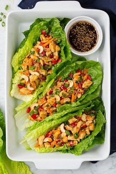 Teriyaki Chicken Lettuce Wraps | Cooking Classy