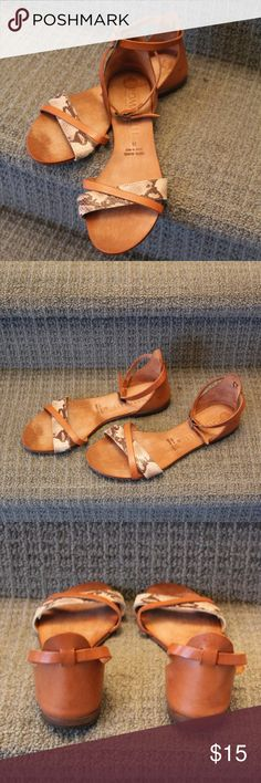 68acdb1bfc8 Italian sandals Start your spring with these cute Italian sandals. Only  worn a couple of times. All natural leather has there for some  discolorations on the ...