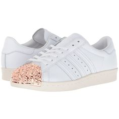 adidas Originals Superstar 80s 3D (White/White/White) Women's Shoes (€105) ❤ liked on Polyvore featuring shoes, athletic shoes, synthetic shoes, laced up shoes, 80's fashion shoes, adidas originals and adidas originals shoes