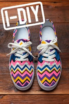 Painted Chevron Sneakers-tutorial