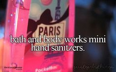 Bath and body works hand sanitizer good smelling shit I love