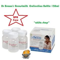 Dr Brown's Breastmilk collection bottle 120ml isi 4pcs