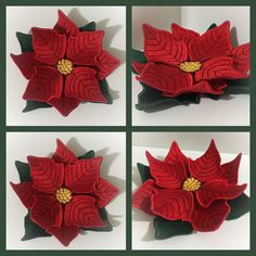 Machine Embroidery Design - Christmas flower Poinsettia