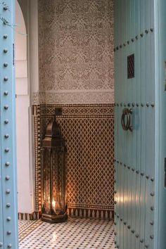 Studded door and door hardware