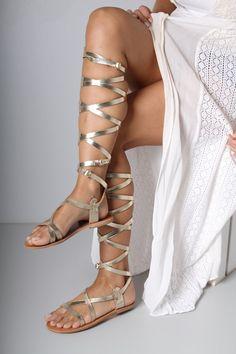 Strappy Gladiator Sandal Greek Gladiator by TheMerakiCompany