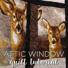 Such a great tutorial for you! Fabric panels always look so great, but I never know what to do with them! So we have a new tutorial for you today, called the Attic Window! It looks especially great wi