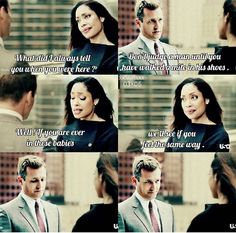 He is definitely walking into those shoes... - Harvey and Jessica/Suits