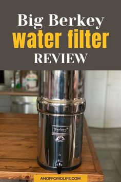 We use a Big Berkey Water Filter system at our off grid homestead to filter our lake water, which is our primary water source. Here's my review of how it performs for our large family. Off Grid Homestead, Off Grid House, Charcoal Filter, Reusable Water Bottles, Gallon Of Water, Lake Water, Water Purification, Off The Grid, Water Systems