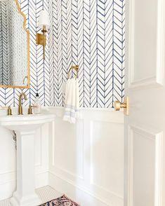 Feather Wallpaper Swatch - Home decor inspiration - Feather Wallpaper, Look Wallpaper, Powder Room Wallpaper, Wallpaper In Bathroom, Bathroom Accent Wall, Wall Paper Bathroom, Accent Wallpaper, Interior Wallpaper, Tile Wallpaper