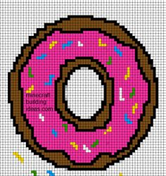 Minecraft Pixel Art Templates: Donut