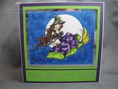 Halloween card using Hannah Lynn 'Priscilla' digital stamp