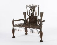 another chair made from old weapons..by Mozambique's Goncalo Mabunda..