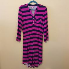 NWOT Beckett dress NWOT NEVER WORN Beckett. Perfect for a business casual setting. Material is stretchy and runs big, I would say this is closer to a medium. Hemline falls around the knee. Elastic at the natural waist and wrists. Lilly Pulitzer Dresses Long Sleeve
