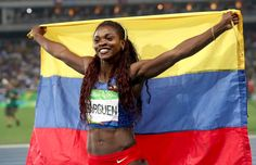‏@Olympics  17m17 minutes ago Congratulations, Caterine Ibargüen (#COL) on winning women's triple jump! #Olympics #athletics