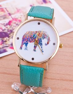 New Style Fashion Casual Watch Elephant Quartz Wristwatch PU Leather strap watch Women Relogio Clock hours gift Teen Jewelry, Cute Jewelry, Jewelry Accessories, Fashion Accessories, Teen Watches, Casual Watches, Nice Watches, Beautiful Watches, Wrist Watches