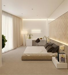 Minimalist Home Bedroom Interior Design minimalist bedroom color home office. Master Bedroom Design, Home Bedroom, Modern Bedroom, Bedroom Furniture, Bedroom Decor, Furniture Design, Asian Furniture, Bedroom Simple, Master Room