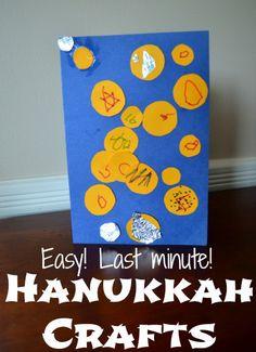 Simple Hanukkah crafts for kids + video