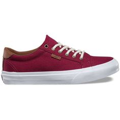 Vans Canvas Court ($55) ❤ liked on Polyvore featuring shoes, pumps, red, patterned shoes, tennis court shoes, vans shoes, mustache shoes and red tennis shoes