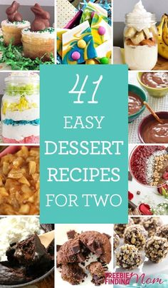 Need easy desserts recipe for two that will have your sweet tooth begging for more? Here youll find a bounty of simple recipes for two that you can whip up in minutes including brownies, mug cakes, dips, puddings and more. Mini Desserts, Party Desserts, Just Desserts, Dessert Simple, Dessert For Two, Easy Sweets, Sweets Recipes, Cooking Recipes, Cooking Games