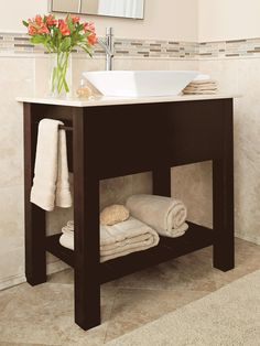 Photo Gallery For Website Switch things up a bit by adding an open vanity with a shelf rather than