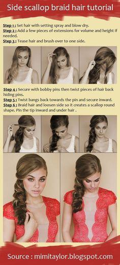 Side scallop braid hair tutorial | beauty tutorials by charmaine