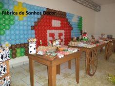 decoração rústica da fazendinha