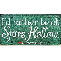 Gilmore Girls I'd rather be at Stars Hollow Green License by eaton, $12.00