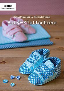 Nähanleitung mit Schnittmuster: Babyschuhe mit Klettverschluss
