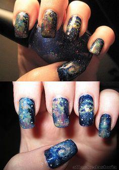 Space Nails - Geeky nail Art