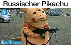 Russischer Pikachu mit Gewehr - Funny Russian Fail