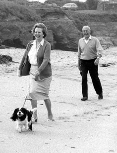 Margaret Thatcher (13 October 1925 – 8 April 2013) and her husband Denis (10 May 1915 – 26 June 2003) in private family time.
