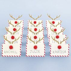 Adorable Christmas Place Cards Gift Tags 2017