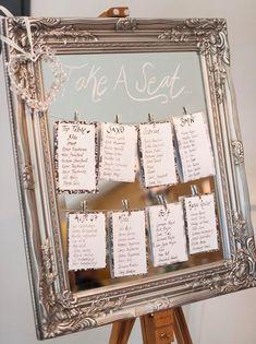 Tableau mariage specchio
