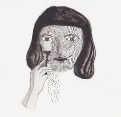 Kaye Blegvad illustration via Lucky Pony Black White, Chef D Oeuvre, Art Inspo, Line Art, Illustrators, Art Drawings, Cool Art, Illustration Art, Artsy