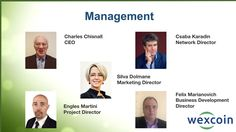 Wexcoin webinar Management, Marketing, Business, Projects, Log Projects, Blue Prints, Store, Business Illustration
