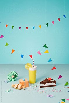 Paper lemonade and cake party by W + M #stocksy #realstock