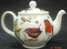 Garden Birds Bone China Teapot | Heirloom Teaware | English ...