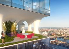 """""""Gaps"""" in this residential tower will be occupied by open-air terraces."""