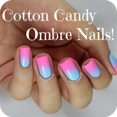 Sabrinas Nails: Cotton Candy Ombre Nails