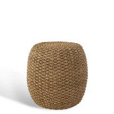 Driftwood Woven Stool - Chairs / Ottomans - Furniture - Products - Ralph Lauren Home - RalphLaurenHome.com