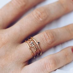 This delicate gold ring by YCL is a beautiful way to share your values with the world.