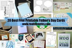 20 Best Free Printable Father's Day Cards, tons of great options!