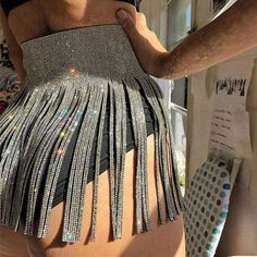 Women Sequins Tassel Skirts A-Line Ladies Party Sexy Skirts Gold Silver Black High Waist Mini Skirt Rave Outfits, Club Outfits, Club Dresses, Teen Dresses, Dinner Outfits, Midi Dresses, Night Outfits, Festival Skirts, Music Festival Outfits