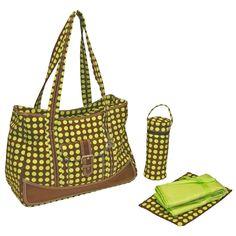Kalencom Weekender Heavenly Dots Diaper Bag - Green | from hayneedle.com