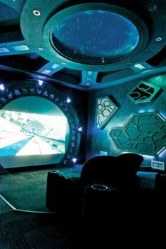 This is what's called a Sci-Fi room and it's in a private estate~