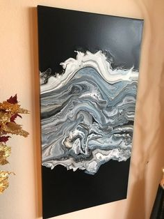 Acrylic pour painting on canvas with Epoxy Resin wall art, fluid painting abstract acrylic painting wall decor original artwork modern art - Painting Acrylic Pouring Art, Acrylic Art, Resin Wall Art, Pour Painting, Painting Abstract, Diy Canvas Art, Fantasy Warrior, Oeuvre D'art, Painting Inspiration