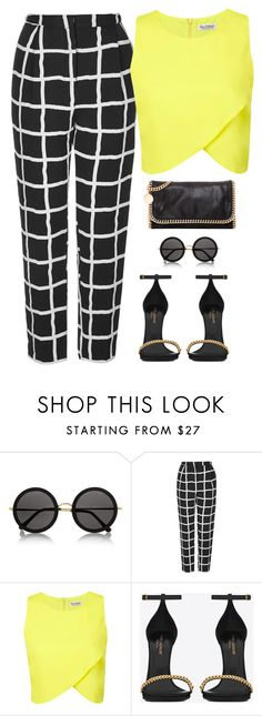 """""""#56"""" by nadiaamrc ❤ liked on Polyvore featuring The Row, Topshop, Miss Selfridge, Yves Saint Laurent and STELLA McCARTNEY"""