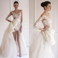 Let charming wedding gowns with sleeves on DHgate.com get your heart. Besides…